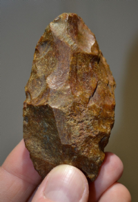 An excellent and attractive Upper Paleolithic small flint hand axe from Leicestershire. SOLD